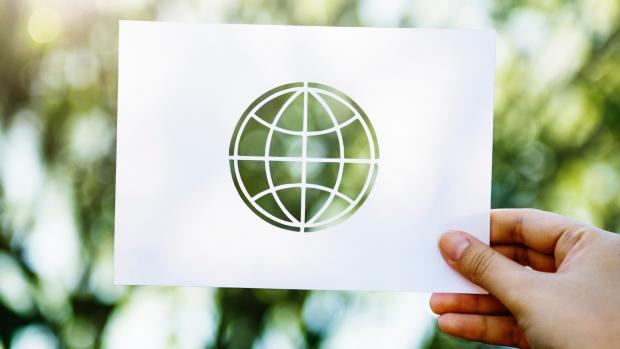 paper cut out in the shape of earth